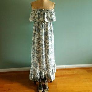 Moda International Maxi Dress Strapless 100% LINEN